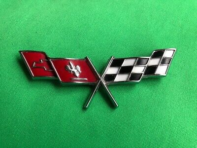 77 78 79 C3 CORVETTE GM Crossed flags fender emblem left or right