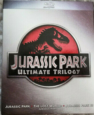 Jurassic Park Trilogy Collection (Blu-ray Disc, 2011, 3-Disc Set)