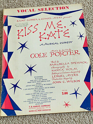 1948 SO IN LOVE Vintage Sheet Music KISS ME KATE by Cole Porter