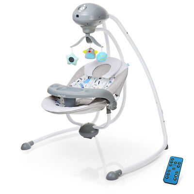 Electric Baby Swing For Infants Boys & Girls With Music / Toy / Remote Control