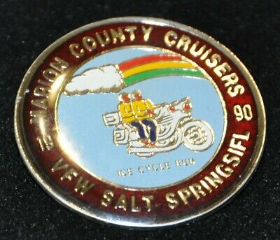 Vintage Marion County Cruisers 1990 VFW Ice Cycle Club Motorcycle Hat Cap Pin