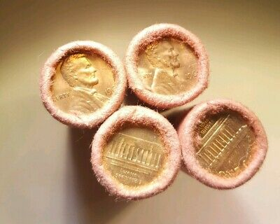 1967 P LINCOLN MEMORIAL CENT CH BU OBW ORIGINAL BANK WRAPPED ROLL Unopened