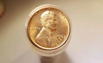 1963 D 1c LINCOLN CENT Roll CHOICE BU Uncirculated MEMORIAL Penny 50 Coins
