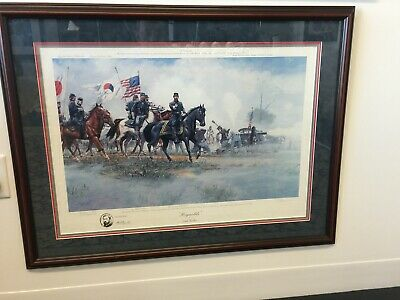 Dale Gallon Civil War print, Reynolds, Signed, Matted, and Framed, #743 of 950
