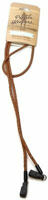Peeper Keeper New Braided Leather Eyeglass Retainer Cord Cable Lanyard Necklace