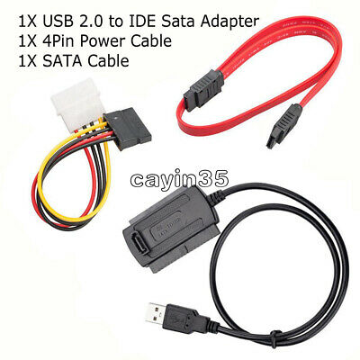 SATA/PATA/IDE to USB2.0 Converter Cable Adapter for 2.5/3.5'' Hard Drive Disk  K