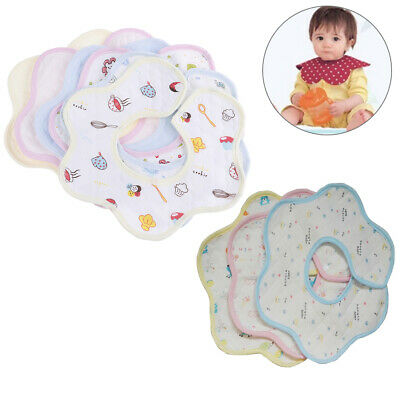1Pc Baby bibs round neck 360 degree burp cloths infant saliva towels