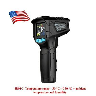 Infrared Temperature Thermometer Meter LCD Handheld Non-contact Digital IR OVKJ