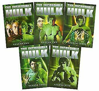 The Incredible Hulk Season  1 2 3 4 5 (Region 4) The Complete Series Collection