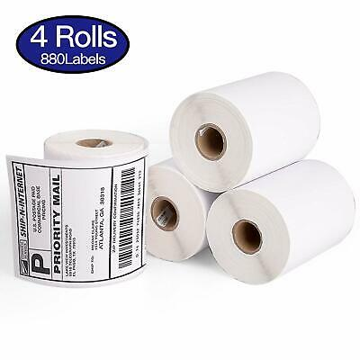 Direct Thermal Shipping Labels 4x6 ( 4 JUMBO rolls ) 1744907 compatible DYMO 4XL