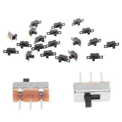 20pcs 5V 0.3 A Mini Size Black SPDT Slide Switch For Small DIY Power Electr U3M7