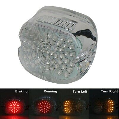 ABS Plastic 12V Turn Signals License Plate Light Tail Light Brake Motorcycle