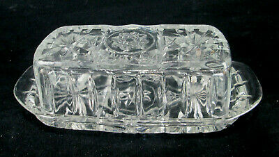 Anchor Hocking Prescut Clear EAPC Quarter Pound Covered Butter Dish
