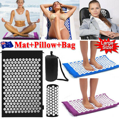 Yoga Massage Acupressure Mats Shakti Sit Lying Pain Stress Soreness Relax Bands