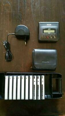PHILIPS DCC 170 recorder with battery, charger, book, earphones , remote like n