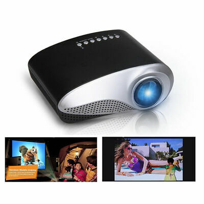 HD 1080P Mini Projector LED Multimedia Home Theater USB VGA HDMI TV AV
