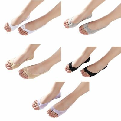 Women Summer Invisible No Show Peep Open Toe Liner Socks Solid Color Hosiery