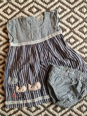 Next baby girls summer set 0-3 mths dresss & pants