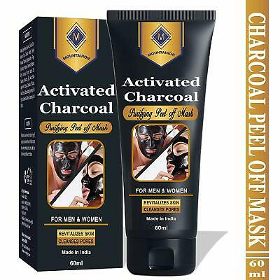 BAMBOO CHARCOAL FACE Mask with Activated Charcoal, MSM, Aloe and