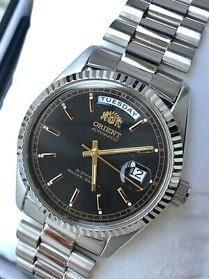 NIB! VERY RARE Orient President SILVER Datejust Automatic Watch ALMOST GONE!