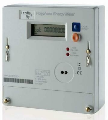Three Phase /3 phase / Polyphase Refurb 100A Electricity meter ZEROED OFGEM