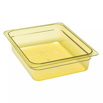 Cambro 22HP150 H-Pan Amber High Heat Half Size Food Pan (6 per case)