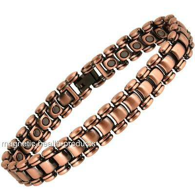 Mens Magnetic Healing Bracelet Copper Health Bangle Arthritis Pain Relief 24