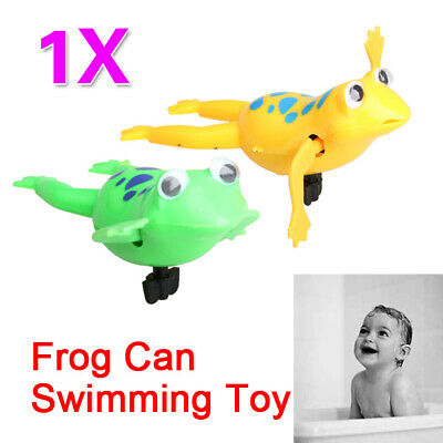 Swimming Frog Battery Operated Pool Bath Cute Toy Wind-Up Swim Frogs Kids T N#S7