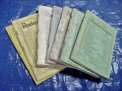 Vintage Antique Collectible Readers Digest (1935-1946) Lot Of 7 - Free Shipping