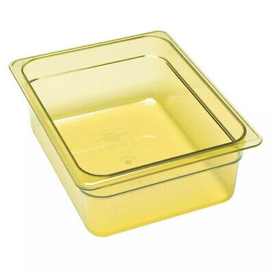Cambro 26HP150 H-Pan Amber High Heat Half Size Food Pan (6 per case)