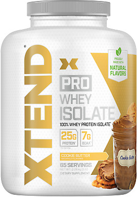 Scivation Xtend Pro 100% Whey Protein Isolate Powder, 7g BCAA & Natural Flavors