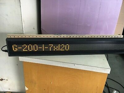 "Lot of (4) Daktronics Galaxy 7x120 LED Displays (0A-1165-0016) 38.5"" x 5.5"" OD"
