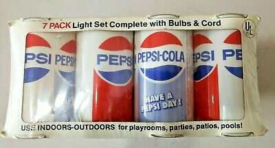 Party-Lites Early 1970s 7 Pack PEPSI Light Set Noma-Patio Products