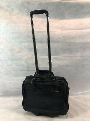 Delsey Lightweight Baggage Soft Case Luggage Bag Travel Handle Wheeled Briefcase