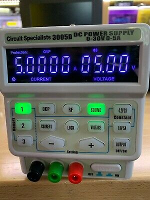 Circuit Specialists 3005D 0~30VDC 5A Adjustable Power Supply  AC 110V/220V