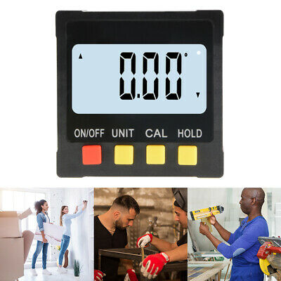 LCD Digital Inclinometer Electronic Protractor Level Angle Gauge Magnetic BI1077