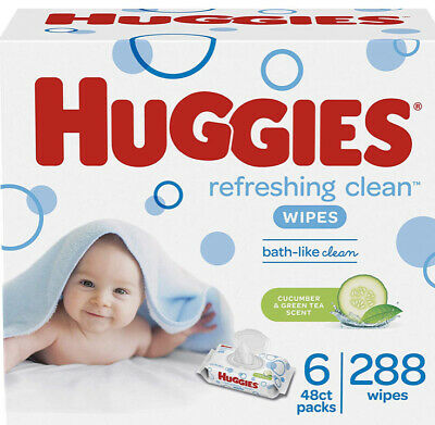 HUGGIES baby wipes Refreshing Clean. Soft Pack 6Pack 288 Sheets