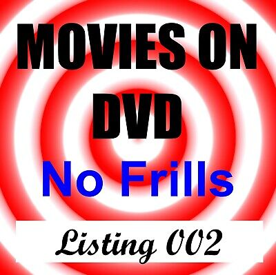 SIMPLY MOVIES (DVD / Blu-Ray) - No Frills List 002 - You choose - Free Shipping