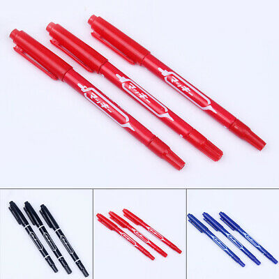 CD Marker Pen DVD Ink Home Blue Truck 3pcs Double Tip Permanent Oily Outdoor