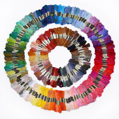50-300Pcs Cotton Cross Floss Stitch Thread Embroidery Sewing Skeins Multi Color