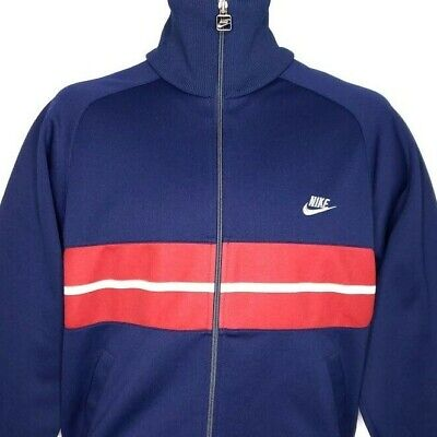 ef90e53ef8958 NIKE TRACK JACKET Vintage 80s Made In Japan Deadstock Striped Blue Size  Medium