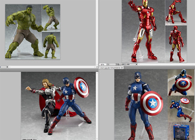 Marvel The Avengers Hulk /Thor/Spiderman/Captain/Ironman Figma Action Figure