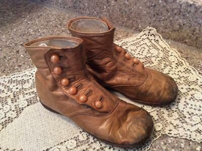 Vintage Antique Victorian High Top Child, Baby Shoes