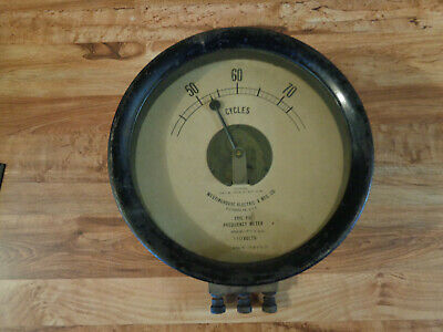 ANTIQUE Westinghouse Electric & MFG. Co. Type TD Frequency Meter Pat. Sept 1898