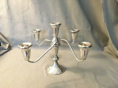 Vtg Duchin Creation Sterling Silver 5 Candle Candelabra Weighted Stand Holder