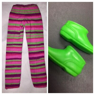 Vintage Mattel Barbie Francie Striped Hill Riders 1210 Pants/Green Low Boots MOD