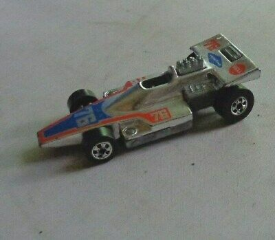 Mattel 1975 VINTAGE HOT WHEELS Formula 5000 Die-Cast Car Silver 76