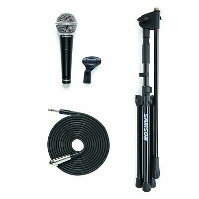 """Samson VP10CE Microphone Value Pack R21S Mic with MK10 Stand 1/4"""" to XLR Cable"""
