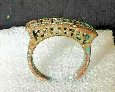 Ancient Ring Bronze Legionary Roman Rare Type Artifact Extremely Old Vintage