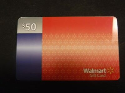 New Walmart 50 dollar gift card. Actual physical card. Free ship with tracking.